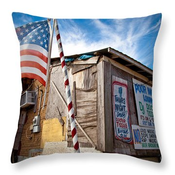 Po Monkeys Lounge Merigold Mississippi Throw Pillow