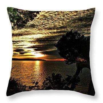 Pocasset Sunset Throw Pillow