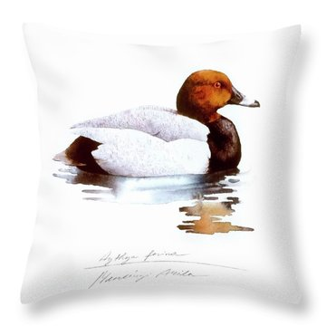 Pochard Throw Pillow