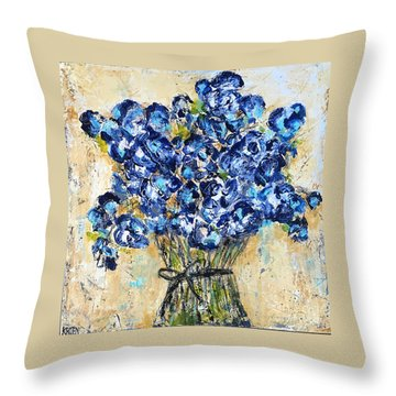 Pocket Full Of Posies Throw Pillow by Kirsten Reed