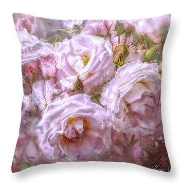 Throw Pillow featuring the digital art Pocket Full Of Roses by Kari Nanstad