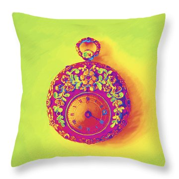 Pocket Watch 1830 Throw Pillow