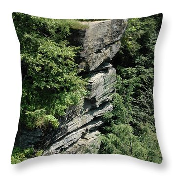 Pocono Mountain Cliff Throw Pillow