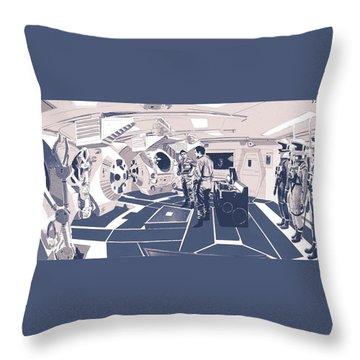 Pod Bay Throw Pillow by Kurt Ramschissel