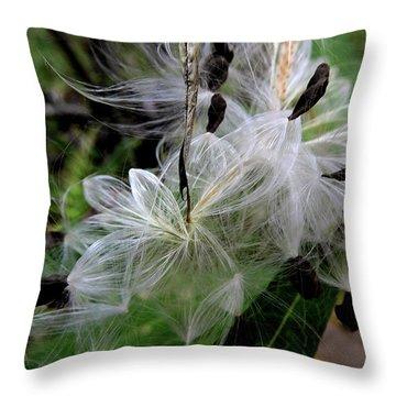 Pods Wide Open Throw Pillow