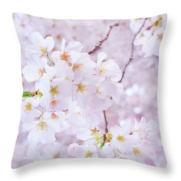 Poem For A Cherry Blossom Throw Pillow