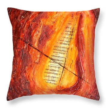 Poesial Visual Throw Pillow by Ivan  Guaderrama