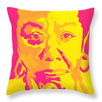 Poetically Speaking  Throw Pillow by Miriam Moran