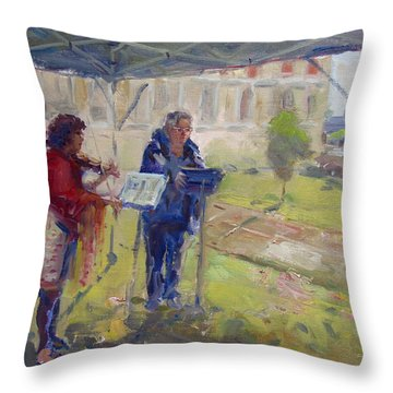 Poetry And Violin Throw Pillow