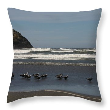 Poetry In Motion Throw Pillow by Marie Neder