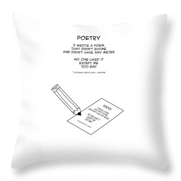 Throw Pillow featuring the drawing Poetry by John Haldane