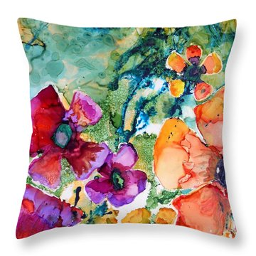 Poetry Of Petals Throw Pillow