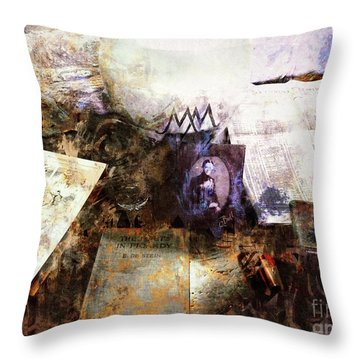Poets In Picardy Throw Pillow by Claire Bull