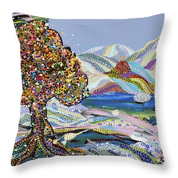 Poet's Lake Throw Pillow