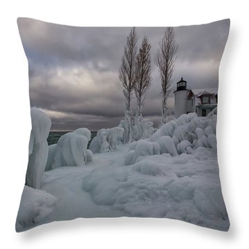 Point Betsie 10 Throw Pillow