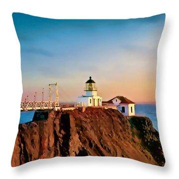Point Bonita Lighthouse Throw Pillow
