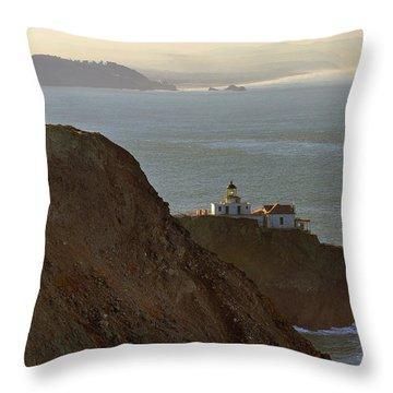 Point Bonita Lighthouse In San Francisco Throw Pillow