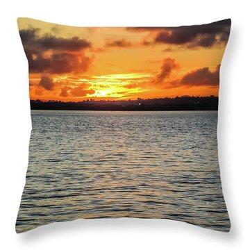 Point Chevalier Beach, Auckland, New Zealand Throw Pillow