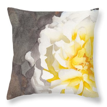 Point Defiance White Flower Throw Pillow
