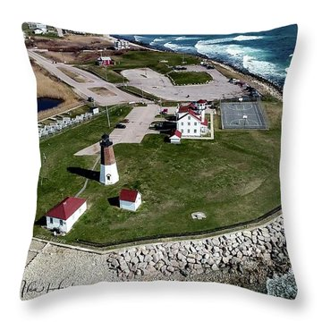 Throw Pillow featuring the photograph Point Judith Easter Cross by Michael Hughes