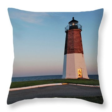 Point Judith Lighthouse Rhode Island Throw Pillow