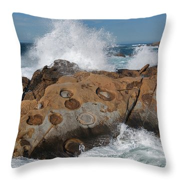 Point Lobos' Concretions Throw Pillow