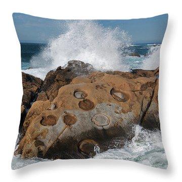 Point Lobos Concretions Throw Pillow by Glenn Franco Simmons