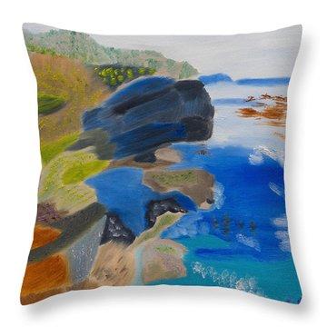 Cliffs Of Point Lobos Ca Throw Pillow