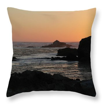 Point Lobos Sunset Throw Pillow