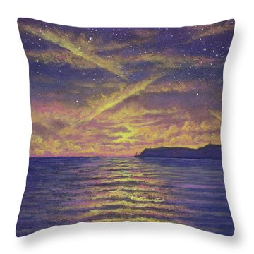 Point Loma Sunset 01 Throw Pillow