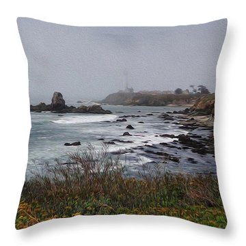 Throw Pillow featuring the photograph Point Montara Lighthouse by David Bearden