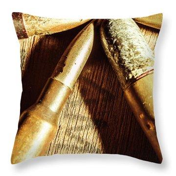 Point Of Impact Throw Pillow