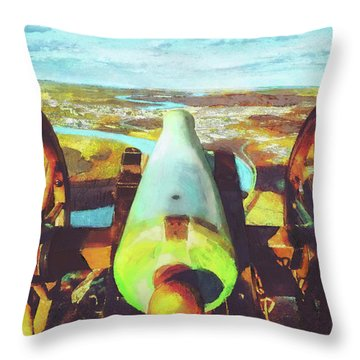 Point Park Cannon Throw Pillow by Steven Llorca