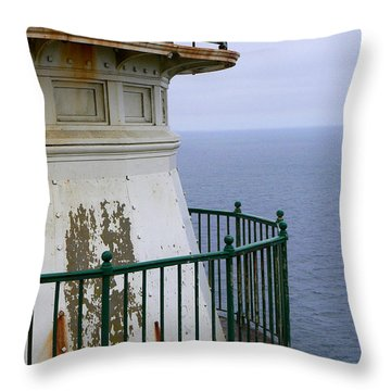 Point Reyes And The Pacific Ocean Throw Pillow by Laurel Powell