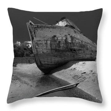 Point Reyes Boat Throw Pillow