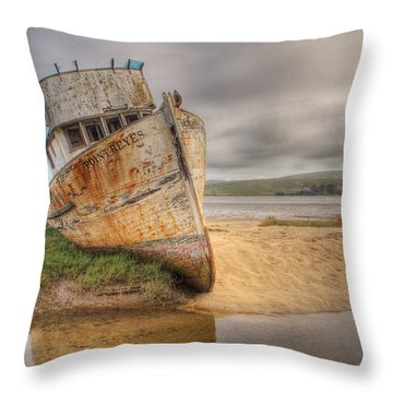 Point Reyes In The Sand Throw Pillow