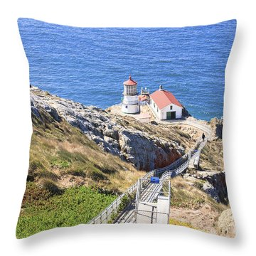 Point Reyes Lighthouse Nps Throw Pillow