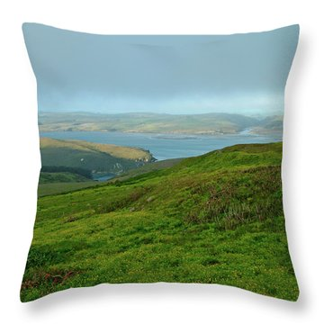 Point Reyes Overlooking Tomales Bay Throw Pillow