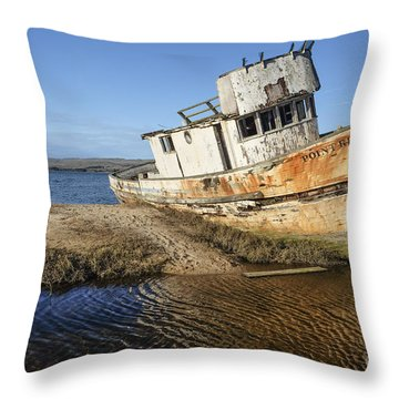 Point Reyes Shipwreck Throw Pillow