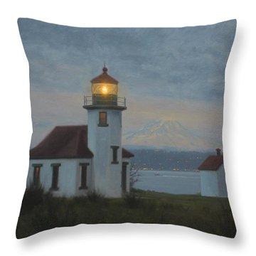 Point Robinson Winter Evening Throw Pillow