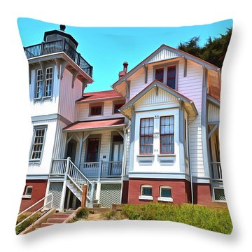 Throw Pillow featuring the photograph Point San Luis Lighthouse by Floyd Snyder
