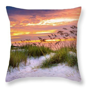 Point Sunrise Throw Pillow