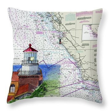 Point Sur Light Station Throw Pillow