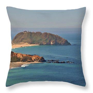 Point Sur Lighthouse On Central California's Coast - Big Sur California Throw Pillow by Christine Till