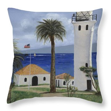 Point Vicente Lighthouse Throw Pillow