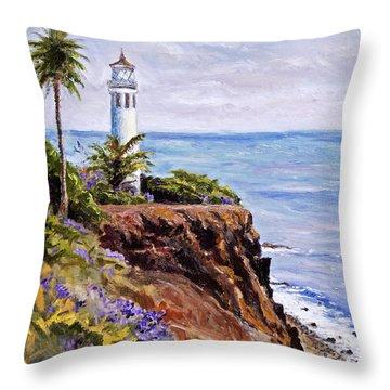 Point Vicente Palos Verdes Throw Pillow by Jennifer Beaudet