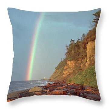 Point Wilson Throw Pillow by Laurie Stewart