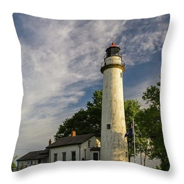 Throw Pillow featuring the photograph Pointe Aux Barques by Heather Kenward