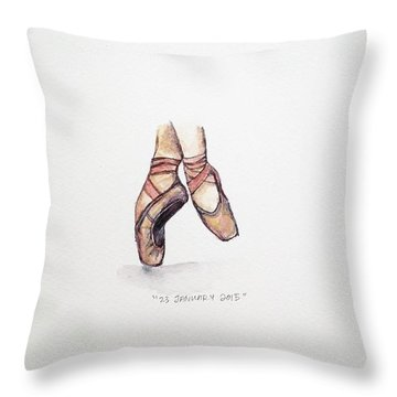 Pointe On Friday Throw Pillow