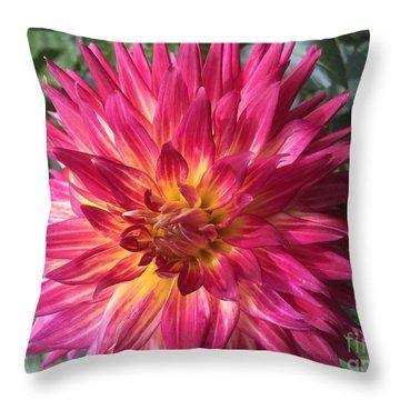 Pointed Dahlia Throw Pillow